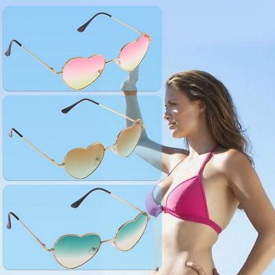 Herzform Sonnenbrille Metallrahmen Fest Jungesellinnenabschied Party (Herzförmiger Kostüm)