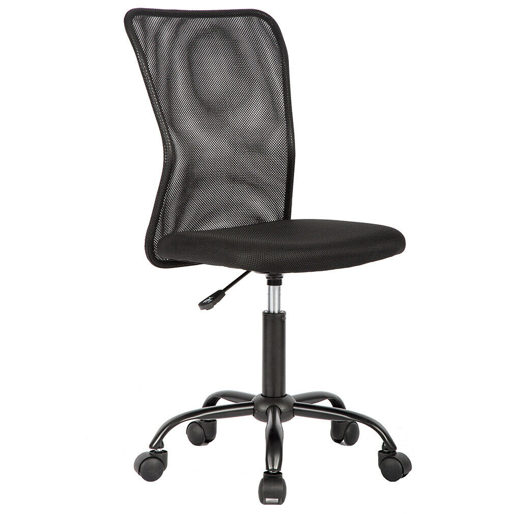 Black Mesh Office Chair Computer Middle Back Task Swivel Sea