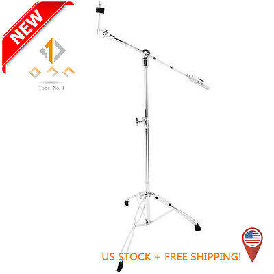 NEW Cymbal Boom Stand Drum Hardware Double Braced Arm Griffin Chrome Percussion