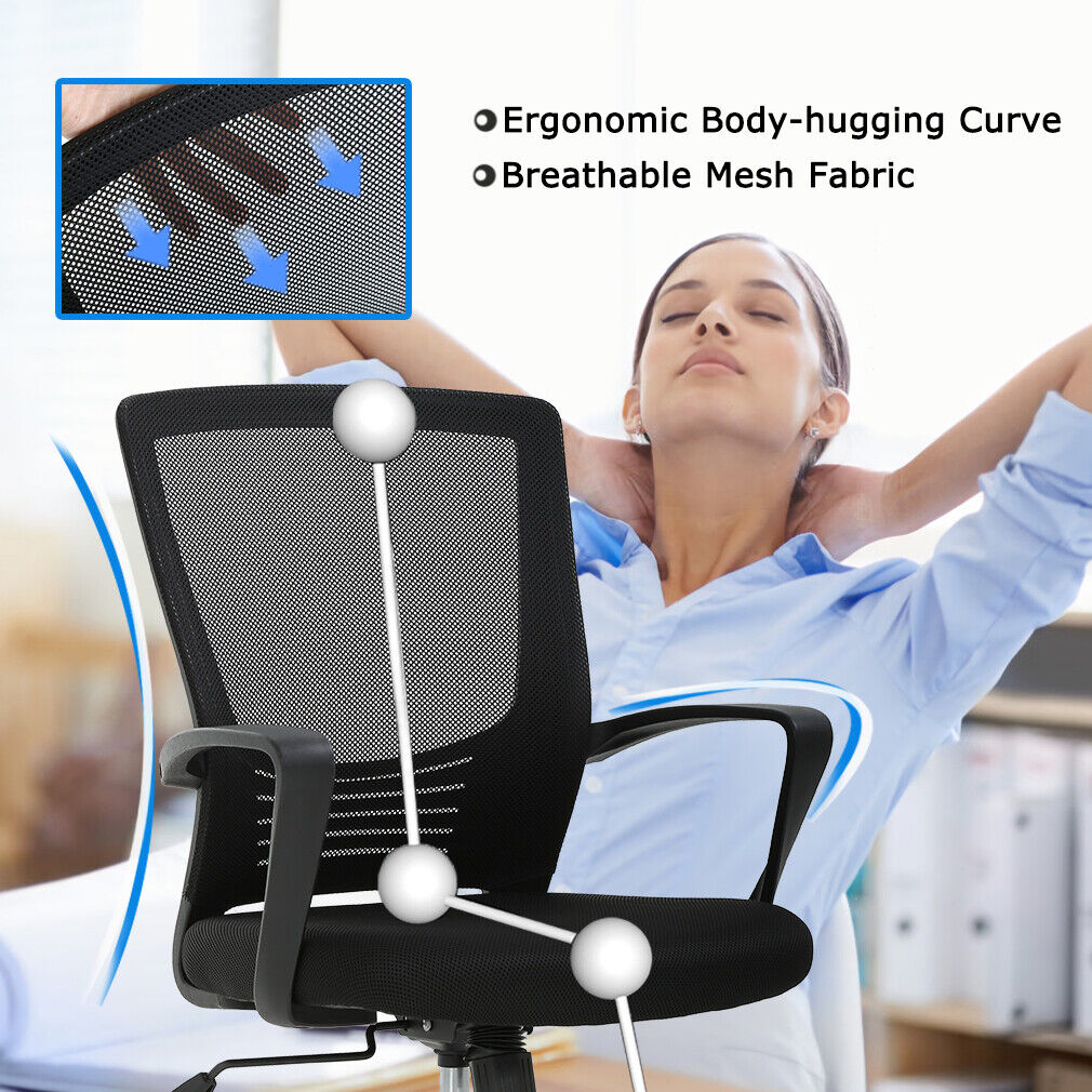 Office Chair Swivel Rolling Executive Lumbar Support Task Chair  2 Pack Chairs