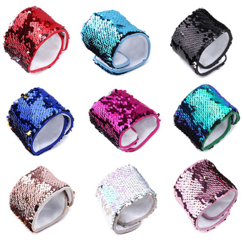 Hand Flowers For Kids Party Wristband Colorful Birthday Sequ