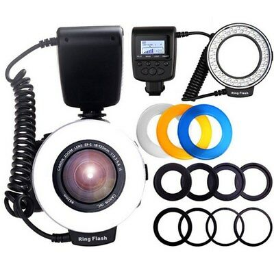 HD-130 Macro Ring Flash Light for Canon Nikon Olympus Panasonic Pentax Camera