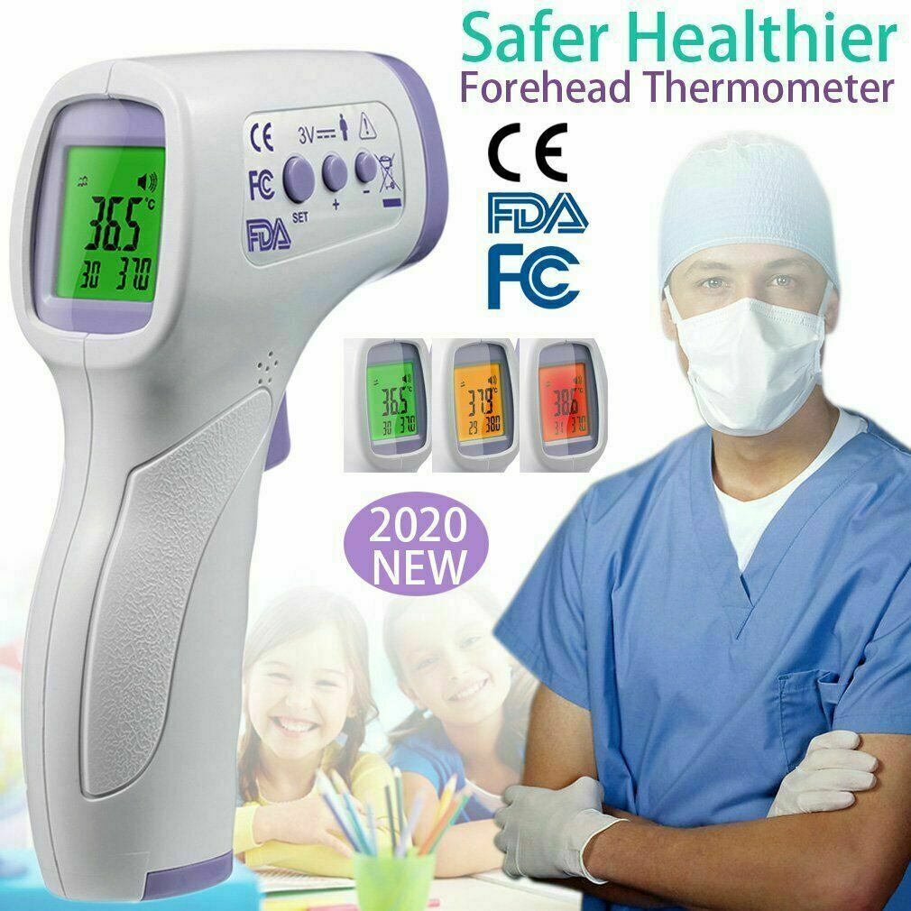 CE FDA Medical Grade NON-CONTACT Infrared Forehead Thermometer LCD Laser IR USA 1