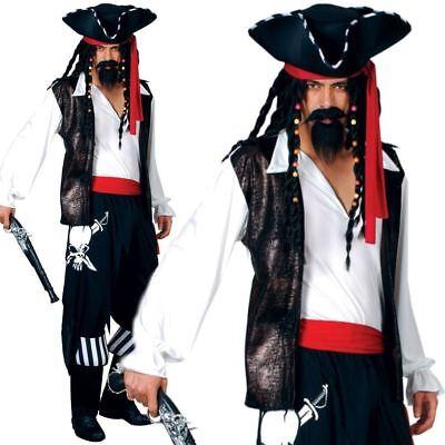 Erwachsene Herren Hoher See Seeräuber Pirat Karibik Maskenkostüm - Hohe Herren Kostüm