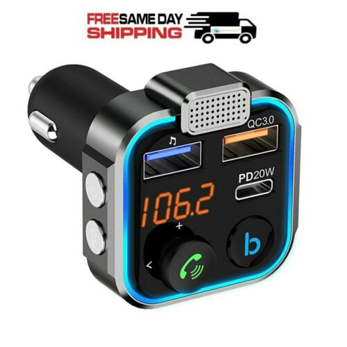 In Car Bluetooth FM Transmitter Radio MP3 Wireless Adapter Car Kit USB Charger