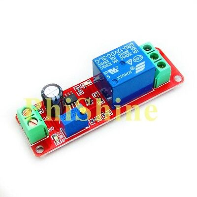 Dc 12v Ne555 Delay Relay Module Time Delay Switch Delay Adjustable 010 Second