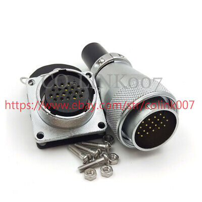 20pin Power Connector 5aws28 High Voltage Industrial Power Cable Plug Socket
