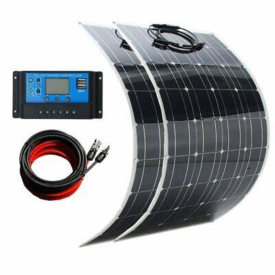 Panel 2 (2X 100W 12V Semi Solarmodul flexibel Solarpanel für Boot Wohnmobil + Laderegler)