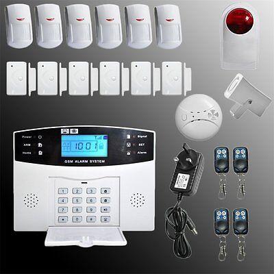 Haus Funk Alarmanlage Sicherheit GSM SMS SIM IR Sensor Anruf Bewegungsmelder Set