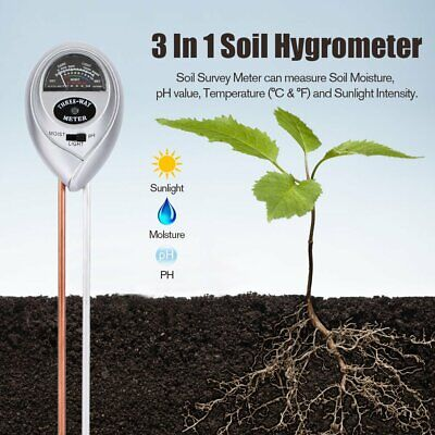 3 In 1 Soil Hygrometer Soil Thermometer Moisture Meter And S