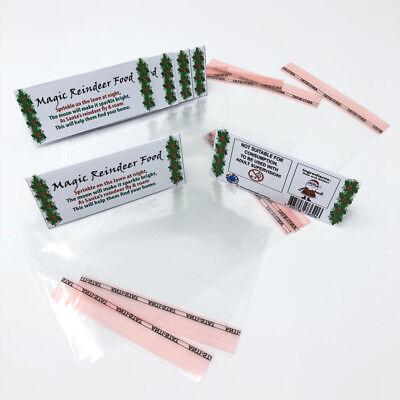 12 x DIY Christmas Craft Bags - Reindeer Food - Xmas Eve Box Stocking Filler](Diy Halloween Foods)