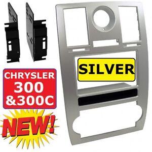 05 06 07 chrysler 300 silver car radio stereo installation dash kit trim  panel