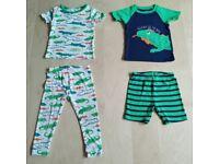 4 Piece Carter's Iguana Print Mix and Match Baby Clothes Bundle Set 18 Months