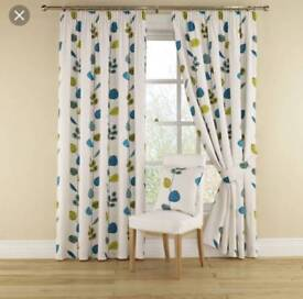 As new long lined curtains with eyelets
