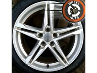 """18"""" Genuine Audi A4 S Line B9 alloys good condition with tyres."""