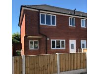 newly built 2 bed semi det house, Widnes, WA8 7JY, gch, dg, gardens, fit kitchen, oven, unfurn nice