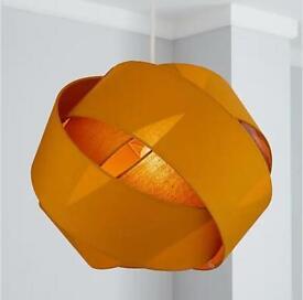Ochre ceiling light by dunelm