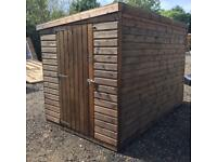 10ft x 6ft pent shed, heavy duty, delivered & erected