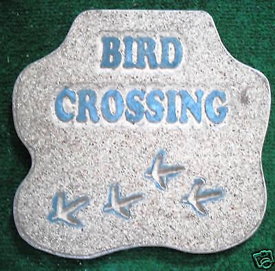 """""""Bird Crossing"""" Plastic Mold For Plaster Or Concrete mould"""