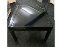 Black Glass Coffee Table.. £80
