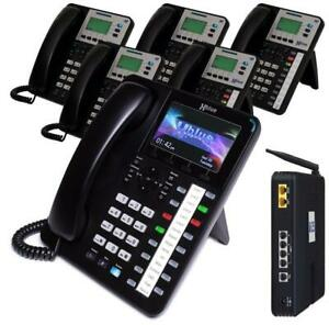 X254135 XBLUE X25 VoIP System Bundle with (1) X4040 Vivid Color Display IP Phone & (5) X3030 IP Phones (MSRP $1,748.99)