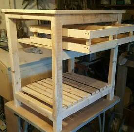 rustic butchers block style kitchen island