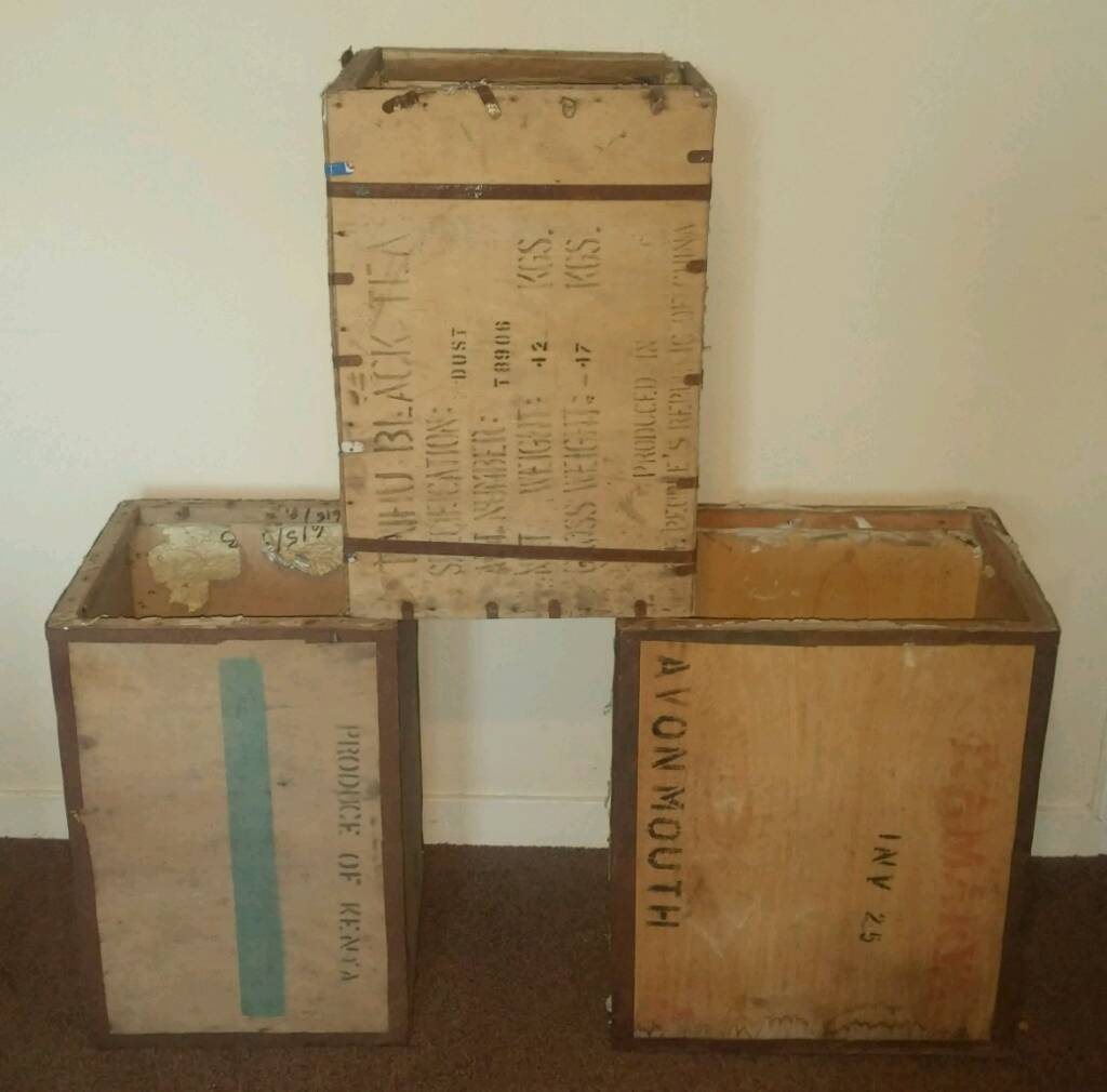Corner Sofas Gumtree Liverpool: Set Of 3 Vintage Wooden Tea Chests Can Deliver