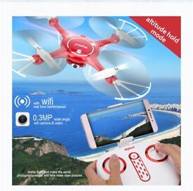 Syma X5UW 2.4G 4CH FPV Altitude Hold Headless Mode RC Drone with WIFI HD Camera