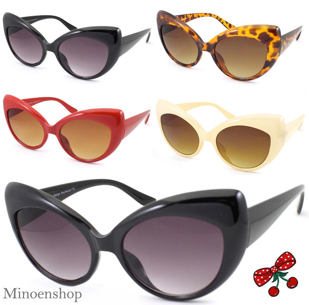 Women/'s Cat Eye Sunglasses BLACK Vintage Retro 50s Style 172