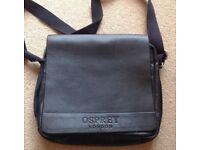 OSPREY LEATHER MESSENGER BAG