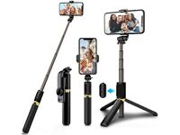 Selfie Stick Tripod, 4 in 1 Selfie Stick with Detachable Bluetooth Remote