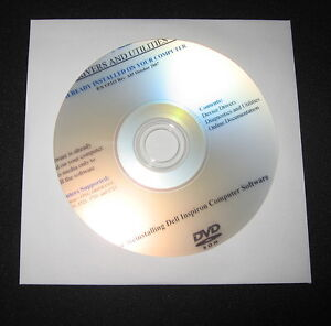 DELL Inspiron 910 1210 1318 1410 1525 1526 Drivers DVD CD Disc