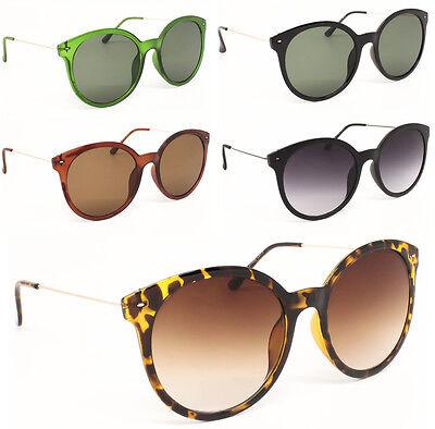 Groß Damen Runde Gläser Mode Übergroße Sonnenbrillen