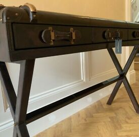 Culinary concepts leather console table RRP £2100