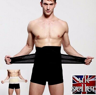 UK Mens Best Waist Trainer Shaping Weight Loss Belt for Men Tummy Belly