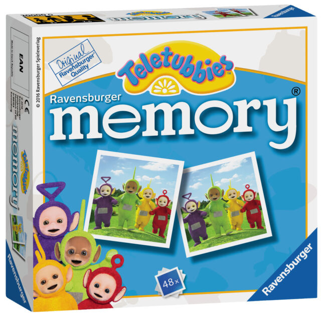 New! 21249 Ravensburger Teletubbies Mini Memory Snap Card Game Children Kids 3+