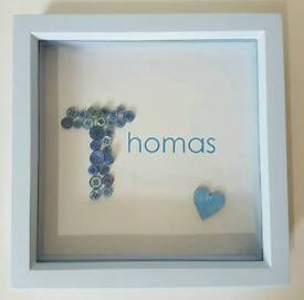 Personalised baby name frame