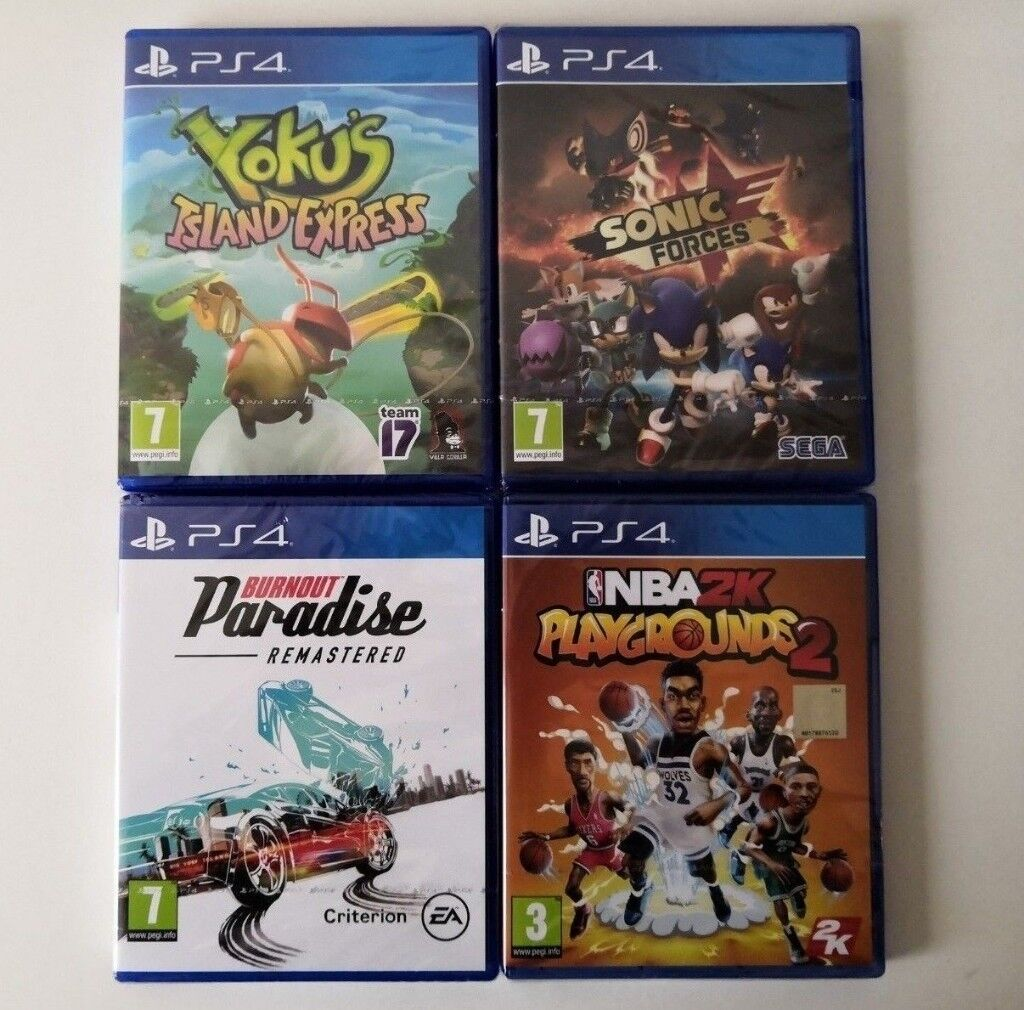 [New/Sealed] 4 PS4 Games [Sonic Forces, NBA 2K Playgrounds 2, Burnout  Remastered, Yoku's Island] | in Bolton, Manchester | Gumtree