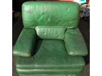 Leather Green armchair