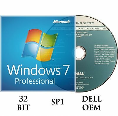 Microsoft Windows 7 Professional Pro 32 Bit Full   Upgrade Sp1    Hard Drive