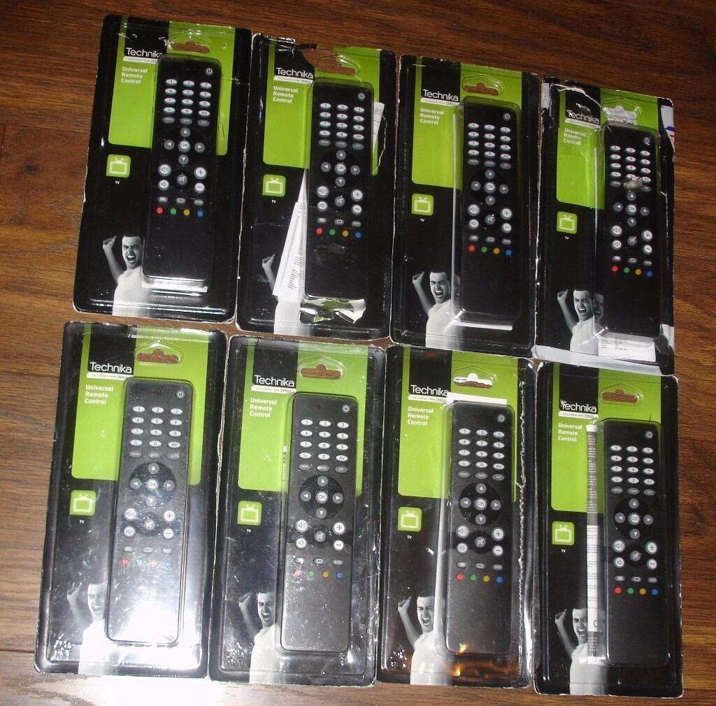 8 Technika Universal Tv Remote Controls Tk51r Job Lot In