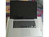 Macbook pro 15 inch , high Sierra OS, 16 GB RAM, quad core i7