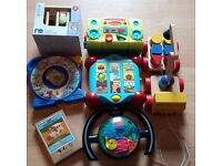 A Collection Of Young Childrens Toys