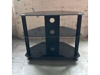 TV stand - black, tempered glass