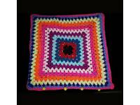 Crochet cushion case