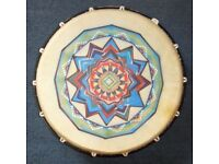 Frame Drum, shaman's drum, similar to a bodhran, 16x4 inches, with beater