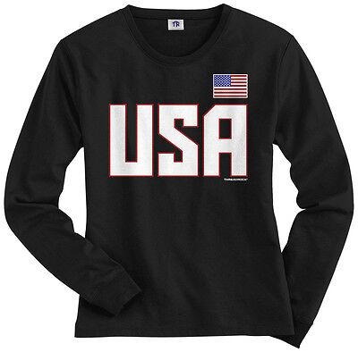 National Team Long Sleeve Tee - Threadrock Women's USA National Team Long Sleeve T-shirt US Sports