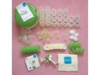 MAM anti colic steriliser, bottles & breast pump