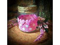 Jars for all occasions-weddings, christenings, parties, funerals etc.