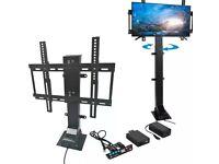 Swivel and retractable TV lift